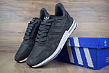 Мужские кроссовки в стиле  Adidas ZX 500 серые, фото 2