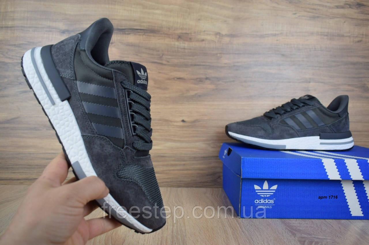 Мужские кроссовки в стиле  Adidas ZX 500 серые