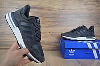 Мужские кроссовки в стиле  Adidas ZX 500 серые, фото 1