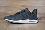 Мужские кроссовки в стиле  Adidas ZX 500 серые, фото 7