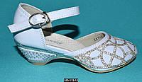 Нарядные туфли для девочки, 27 размер (17.5 см), праздничные туфельки на утренник, выпускной