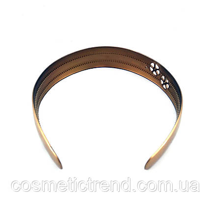 Обруч для волос золотистый глянцевый с декором (Франция), фото 2