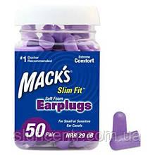 Беруши для сна Mack's Slim Fit Soft , 50 пар