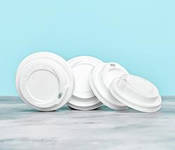 Белая крышка для бумажных стаканов 250 мл, 50 шт