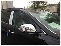 Накладки на зеркала Hyundai Santa Fe IX45 2013- (хромированные)