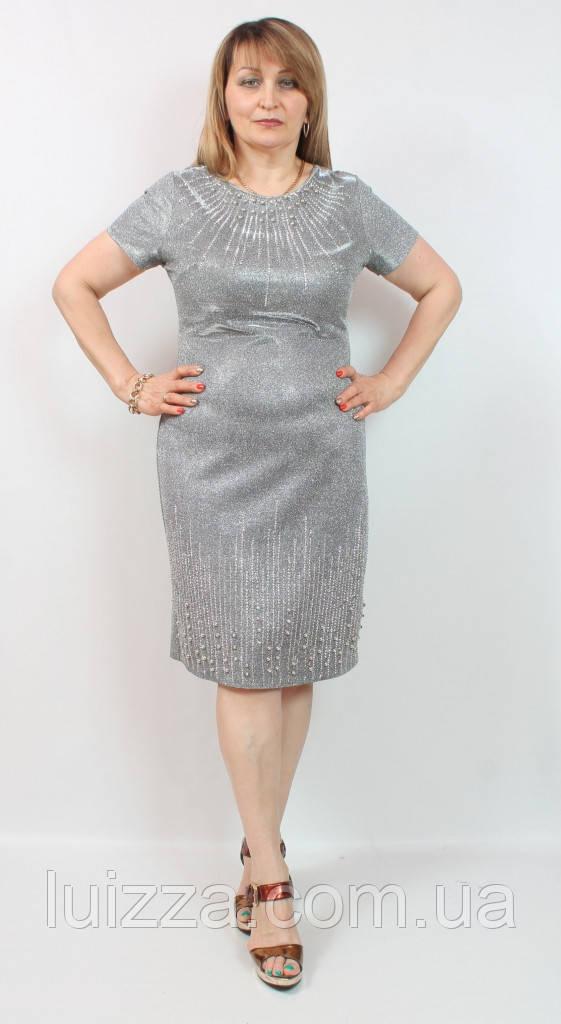 4399534a46d8c8f Турецкое платье Cupper большого размера 50-56рр - Luizza-Луиза женская  одежда больших размеров