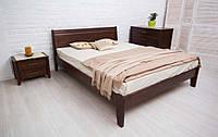 Кровать без изножья Сити 160-200 см Филёнка (темный орех)