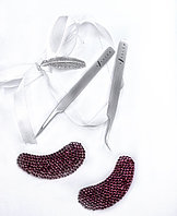 Пинцет для наращивания ресниц набор для классического наращивания ресниц/ прямой +изогнутый