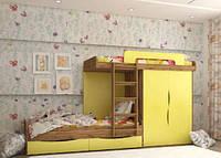 """Двухъярусная детская кровать """"Твинс"""" Lion, фото 1"""