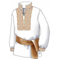 F2508 Лабиринт. Диана Плюс. Схема + выкройка для вышивания мужской сорочки