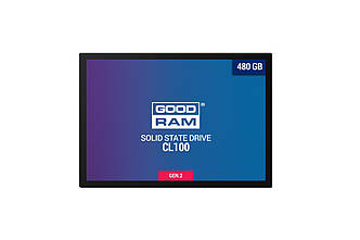 Накопитель SSD 480GB GOODRAM CL100 GEN.2 2.5 SATAIII TLC (SSDPR-CL100-480-G2)