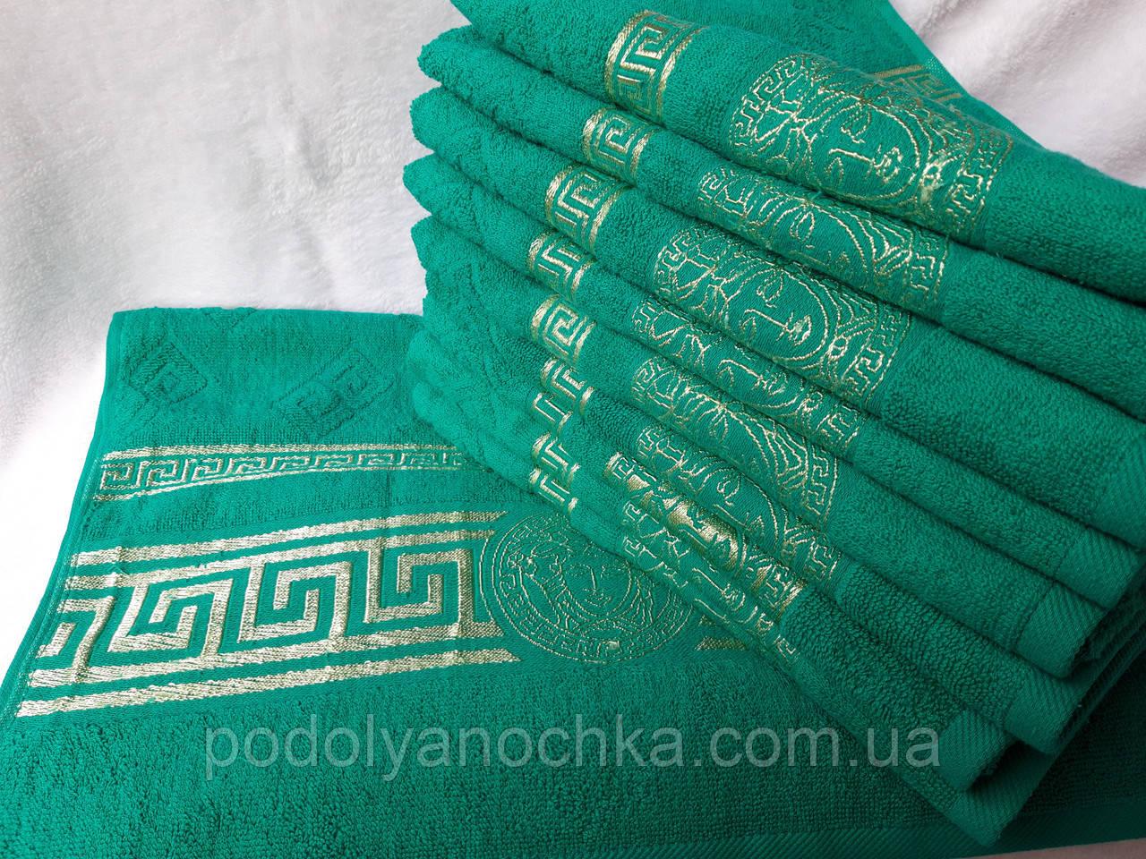 Рушник Версаче зелений 50х90