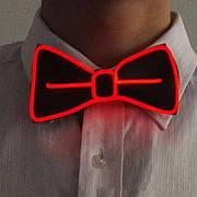 Светодиодная Led El бабочка светящийся галстук для вечеринок, пати. Красная