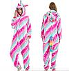 Кигуруми пижама взрослая единорог розовый звезды S, фото 2