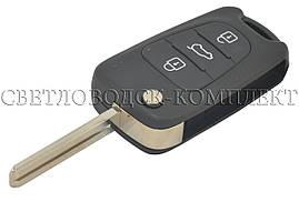 Заготовка HYUNDAI I30-35 выкидной ключ 3 кнопки (корпус)
