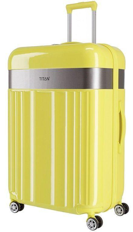 Гигантский пластиковый чемодан Titan SPOTLIGHT FLASH Ti831404-89 102 л, желтый