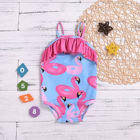 Купальник детский на девочку  3-4 года Розовый фламинго