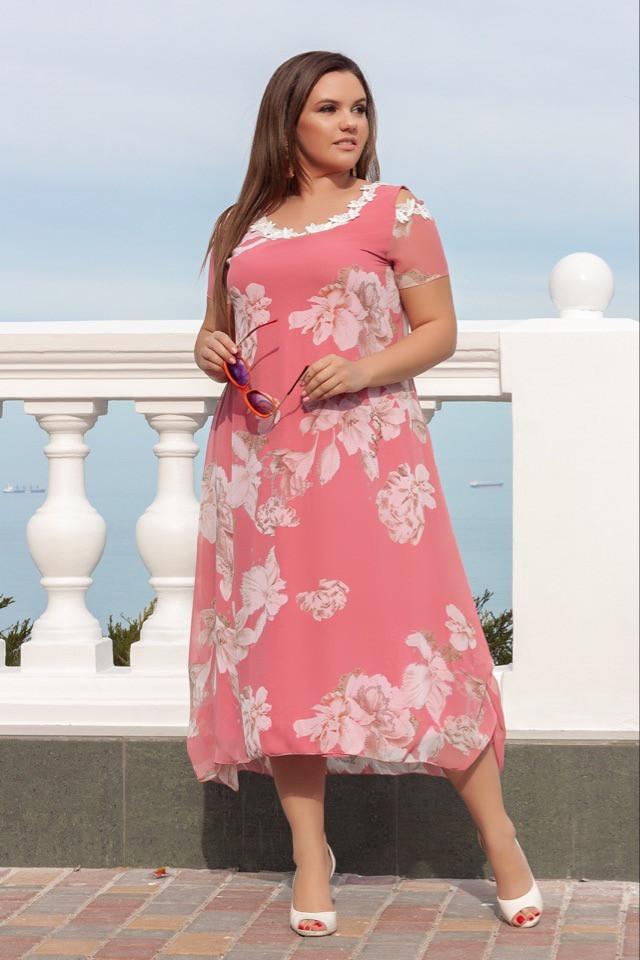 075a3a1548d Женское шифоновое платье миди