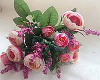 Букет рунункулюс, насыщенно-розовый.