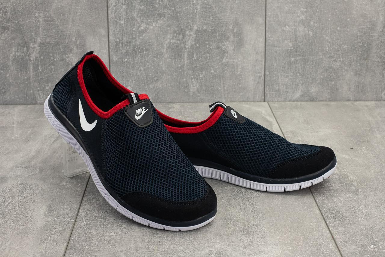 Кроссовки G 1004 -4 (Nike Air) (лето, мужские, текстиль, синий)