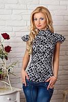 Стильная женская блуза с коротким рукавом