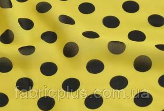 Шифон  горох 18 мм. желтый