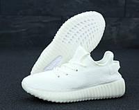Кроссовки мужские Adidas Yeezy Boost 350 реплика ААА+, размер 36-45 белый (живые фото), фото 1