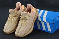 Кроссовки женские Adidas Yeezy Boost 350 реплика ААА+, размер 36-40 коричневый (живые фото), фото 1