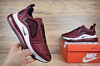 Мужские кроссовки в стиле  Nike Air Max 720 бордовые, фото 1