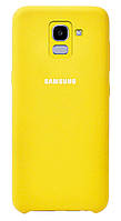 Чехол Silicone case для Samsung J6 Желтый BS-000057092, КОД: 290863