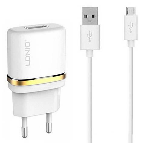 Сетевое зарядное устройство LDNIO DL-AC50 1USB/1A + Micro, фото 2