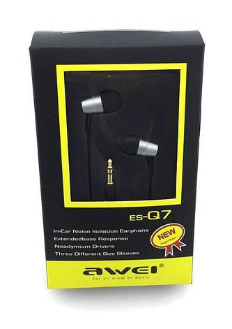 Наушники вакуумные Awei ES-Q7, фото 2