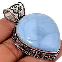 """Шикарный  кулон с  голубым опалом """"Голубое сердце"""" от студии LadyStyle.Biz, фото 1"""