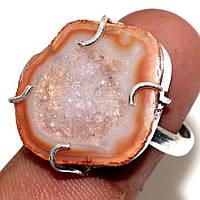 """Шикарное кольцо с друзой  агатом  """"Жеода"""", размер 18.4  от Студии  www.LadyStyle.Biz, фото 1"""