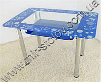 Кухонный стол Maxi Dt r 1100/700 (2) синий с рисунком