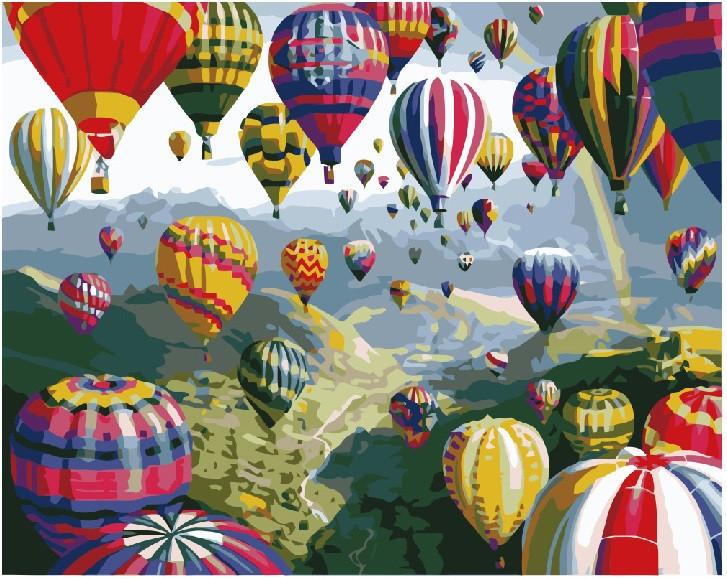 """Картина по номерам. Brushme """" Разноцветные шары """" GX6524"""