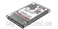 Карман для HDD/SSD 2.5' формата жесткого диска USB 3.0 SATA  Прозрачный