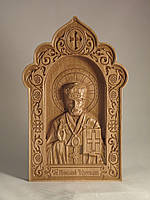 Резная икона Св. Николай Чудотворец (300x192)