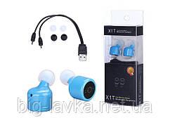 Стерео Bluetooth гарнитура Auriculares  Синий