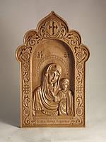 Резная икона Матерь Божья Казанская (300х192)
