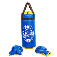 Боксерский набор детский (перчатки+мешок) L PVC UR BO-4675-B(L) (реплика)