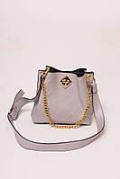 Женская сумка с плечевым ремнем LUREX - серый цвет, Малый (есть размеры)