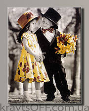 "Картина на холсте ""Ретро дети от Kim Anderson"" ( 55x42 cм )"