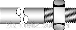 Шпилька резьбовая приварная с гайкой DIN 525
