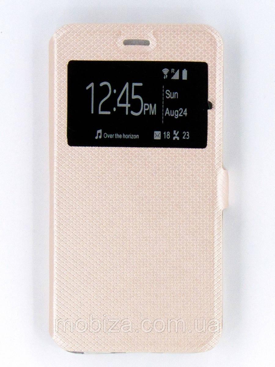 Чохол-Книжка FINE LINE (flipp-BOOK Call ID) для Xiaomi Redmi Note 4x (gold)