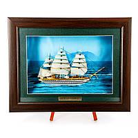 Картина модель корабля парусного фрегата Amerigo Vespucci FS05