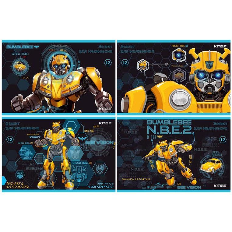 Альбом для рисования А4 12л Kite мод.241 Transformers TF19-241