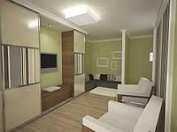 Гостиные комнаты с елементами крашенного МДФ