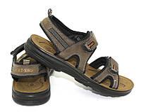 Мужские сандалии цвета хаки