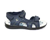 Летняя мужская обувь в темно синем цвете